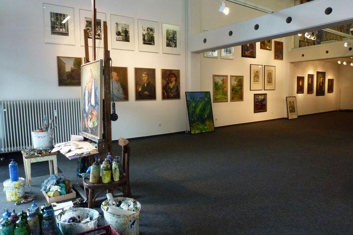 Blick in die Ausstellung Meidner/Kitta-Kittel