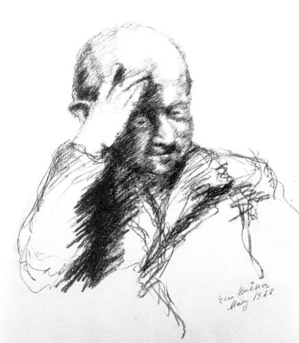 Else Meidner, Porträt Ludwig Meidner, 1927 Bleistift, 79,5 x 56,5 cm Ludwig Meidner-Archiv, Jüdisches Museum Frankfurt © Ludwig Meidner-Archiv, Jüdisches Museum der Stadt Frankfurt am Main