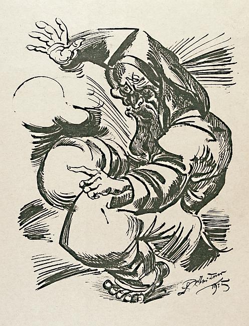 Lithografie nach einer Zeichnung von 1915