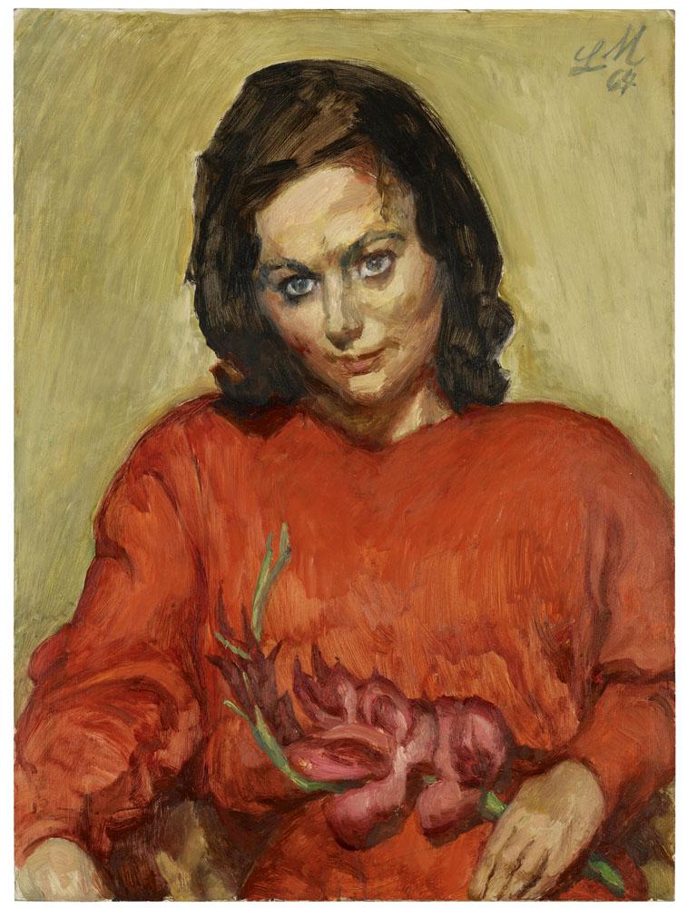 Ludwig Meidner: Junge Frau im roten Kleid
