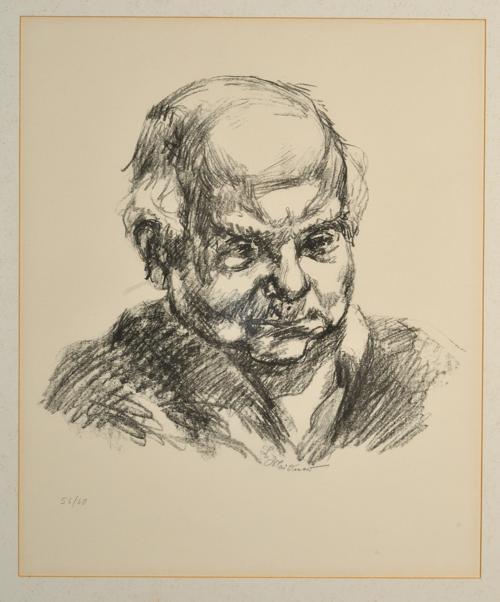 Selbstporträt Ludwig Meidners aus der Sammlung des Main-Taunus-Kreis