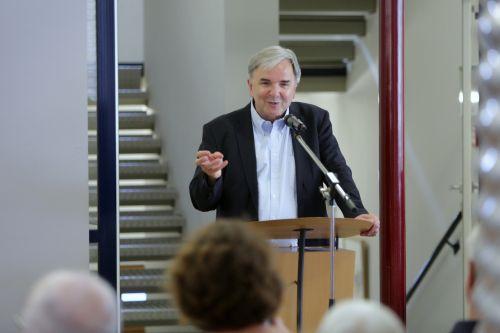 Dr. Helmut Müller, Geschäftsführer Kulturfonds Frankfurt RheinMain gGmbH, sprach ein Grußwort