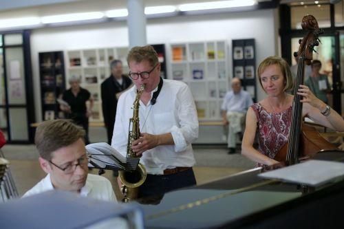 Das Melzer / Butzlaff / Lang-Eurisch-Trio sorgte für die Stimmung. Foto: Alexander Paul Englert