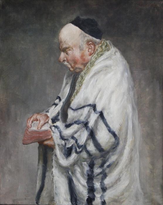 Jörg von Kitta-Kittel, Porträt Ludwig Meidner, Öl auf Leinwand, um 1960, Besitz des Künstlers