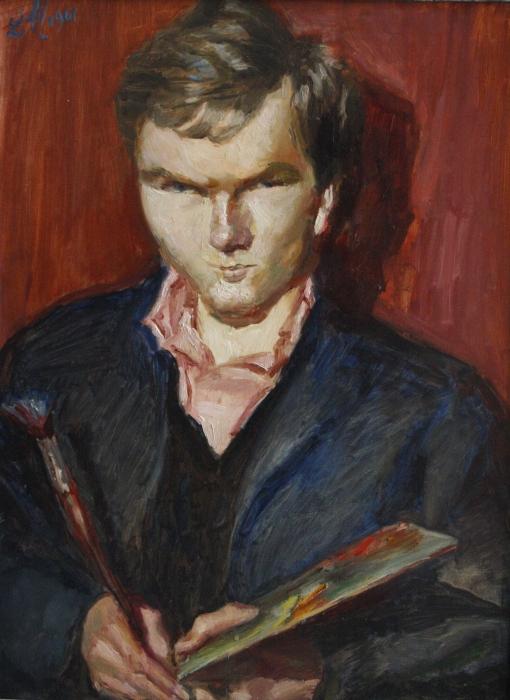 Ludwig Meidner Portrait von Kitta-Kittel, oil on canvas, 1961, Galerie Netuschil © Ludwig Meidner-Archiv, Jüdisches Museum der Stadt Frankfurt am Main