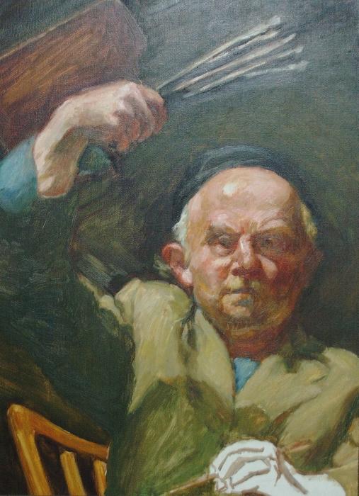 Ludwig Meidner, Donnerwetterpalette, oil on board, Galerie Netuschil © Ludwig Meidner-Archiv, Jüdisches Museum der Stadt Frankfurt am Main