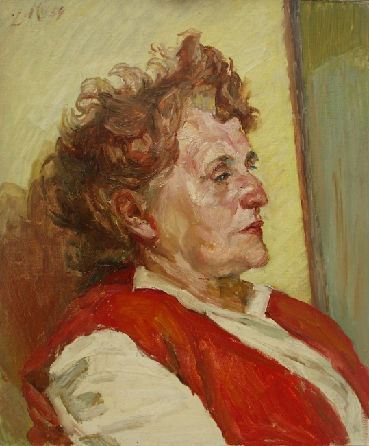 Ludwig Meidner, Portrait of a woman, 1954, oil on cardboard, Ludwig Meidner-Archiv, Jüdisches Museum Frankfurt