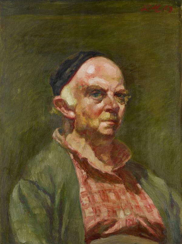 Ludwig Meidner, Self portrait, 1959, oil on cardboard, Stadtmuseum Hofheim am Taunus