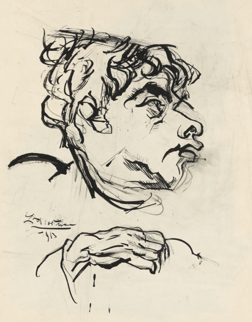 Ludwig Meidner, Portrait Jakob van Hoddis, 1913, Institut Mathildenhöhe Darmstadt / Darmstadt Municipal Art Collection