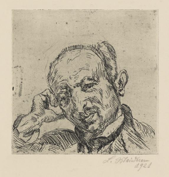 Ludwig Meidner, Portrait Dr. Fritz Glaser, 1921, Institut Mathildenhöhe Darmstadt / Darmstadt Municipal Art Collection