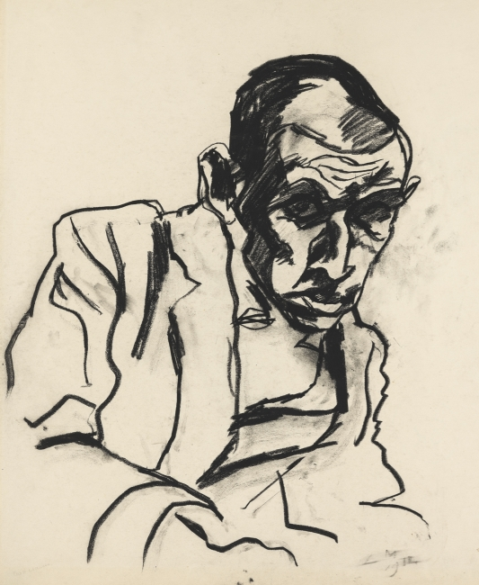 Ludwig Meidner, Portrait Simon Ghuttmann, 1912, Institut Mathildenhöhe Darmstadt / Darmstadt Municipal Art Collection