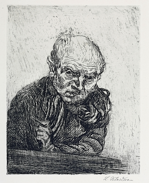 Ludwig Meidner, Self-Portrait with Etching Needle, 1923, etching, Ludwig Meidner Archive, Jewish Museum Frankfurt, photo: Ursula Seitz-Gray, Frankfurt