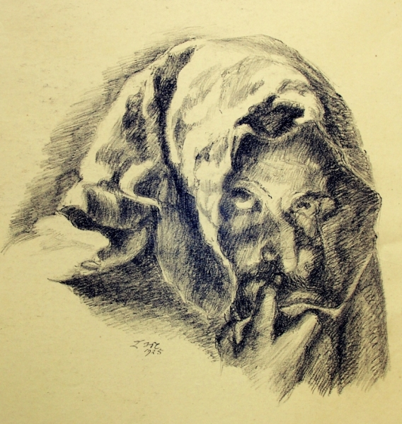 Ludwig Meidner, Untitled, 1925, chalk on paper, Ludwig Meidner Archive, Jüdisches Museum Frankfurt, © Ludwig Meidner-Archiv, Jüdisches Museum der Stadt Frankfurt am Main